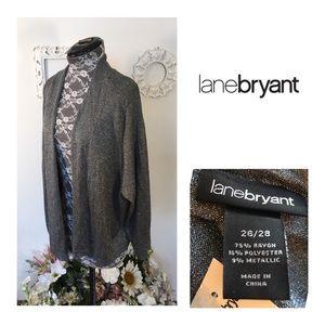 New Lane Bryant Silver Cardigan
